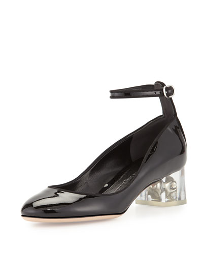 Patent Ankle-Wrap Skull Pump, Black