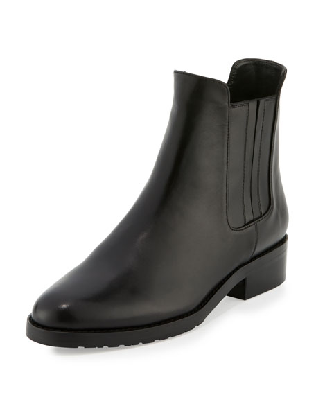 Stuart Weitzman Basilico Leather Chelsea Boot, Nero