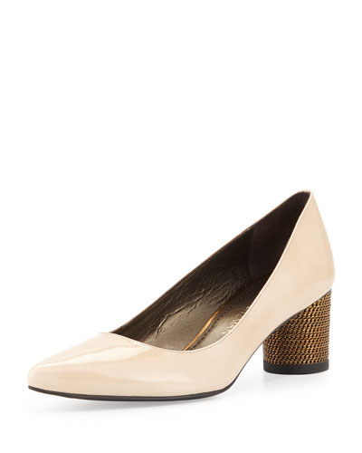 Linkage Patent Chain-Heel Pump, Naked