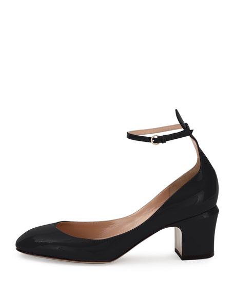Tango Patent Ankle-Wrap Pump, Black