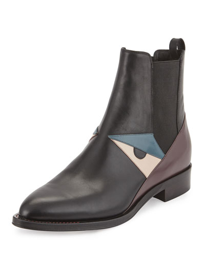 Bug Monster Leather Chelsea Boot, Black/Bordeaux/Poudre