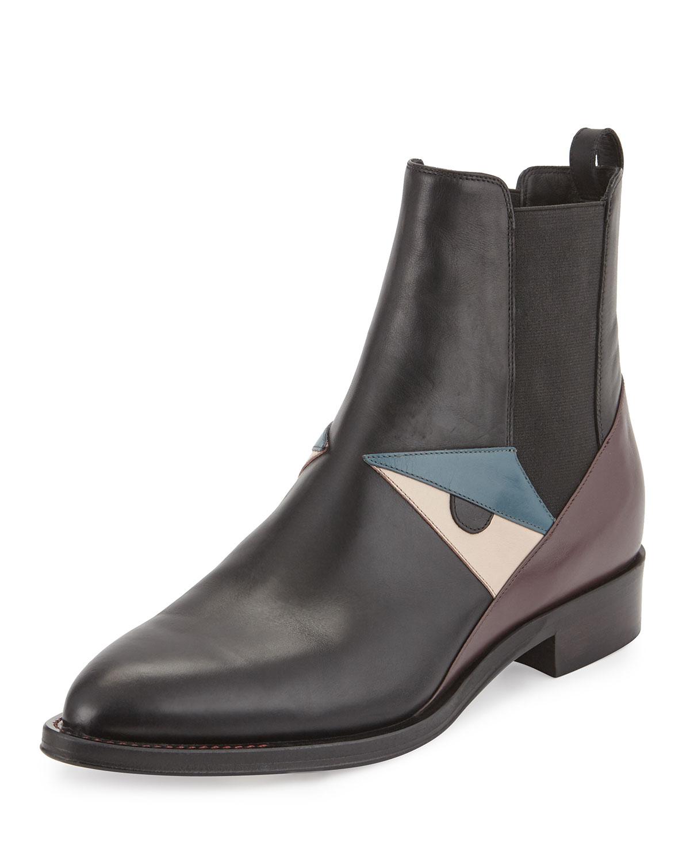 Fendi Black Side-Zip Chelsea Boots 4MNUdz