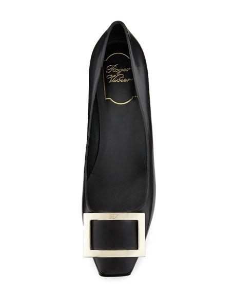 Trompette Leather 45mm Pump, Black
