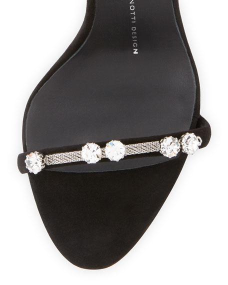 Giuseppe Zanotti Coline Crystal Triple-Strap 110mm Sandal, Black