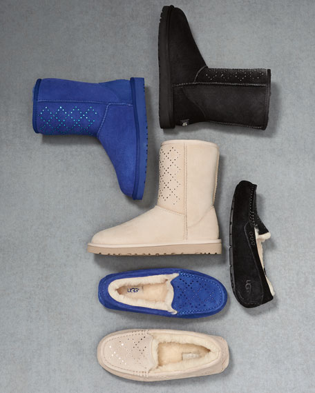 Classic Short Crystal Suede Boot