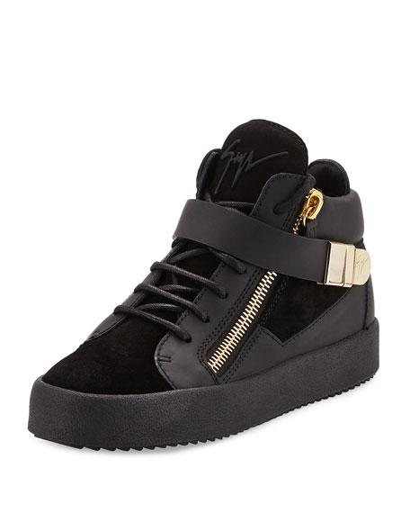 May London High-Top Sneaker, Nero