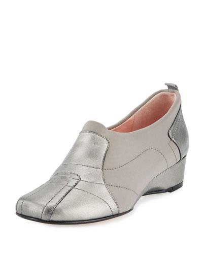 Kuss Demi-Wedge Sneaker, Pewter