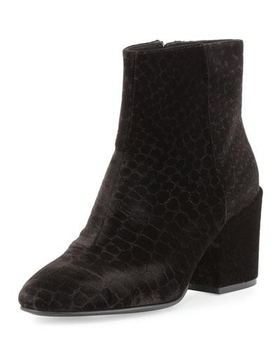 Erika Velvet Ankle Boot, Black