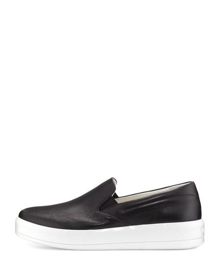 Leather 25mm Skate Sneaker, Black