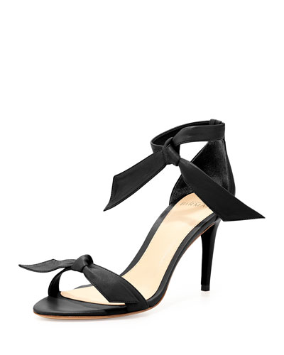 Leather Bow-Tie d'Orsay Sandal, Black