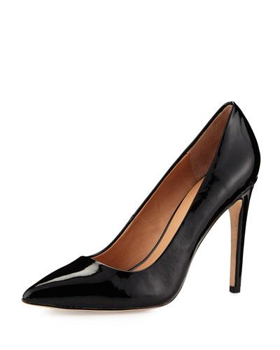 Shirley Patent-Leather Pump, Black