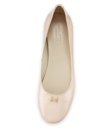 Suzanne Patent Leather Flat, Nude