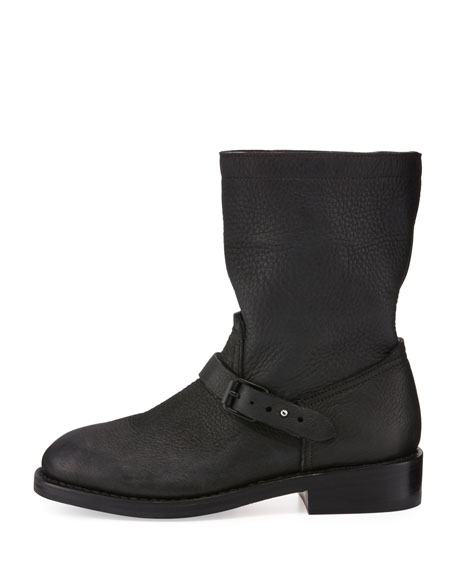 Rag & Bone Oliver Leather Moto Boot, Black