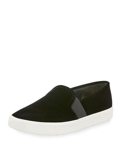 Blair-12 Velvet Skate Sneaker, Black
