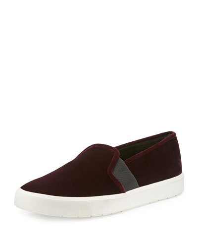 Blair-12 Velvet Skate Sneaker, Oxblood