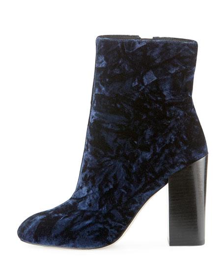 Bojana Velvet 100mm Ankle Boot, Midnight