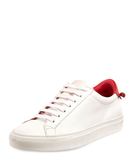 givenchy urban street leather lowtop sneaker whitered