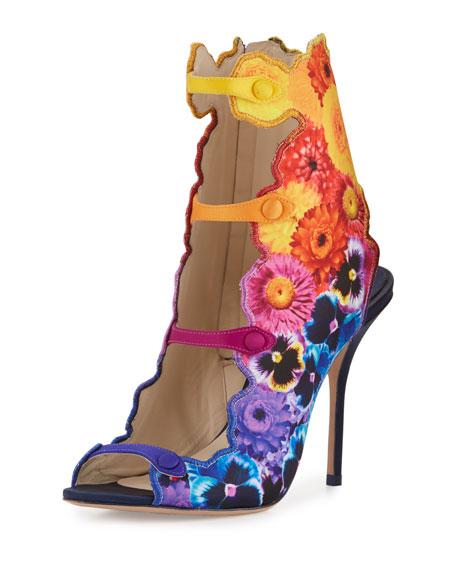 Bloomsbury Floral-Print Sandal, Multi