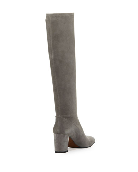 Carmick Stretch Suede Knee Boot, Storm
