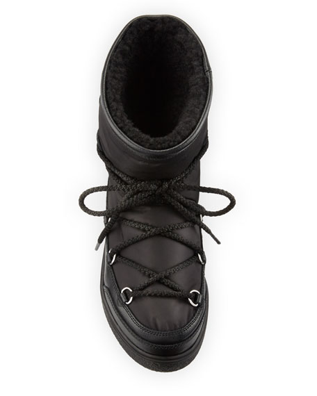 Fanny Shearling-Lined Ankle Boot, Black