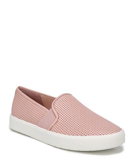 Vince Blair 5 Perforated Slip-On Sneaker, White