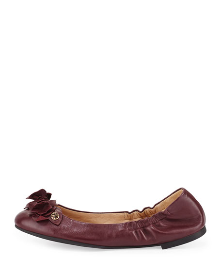 fb735962b67 Tory Burch Blossom Leather Ballerina Flat