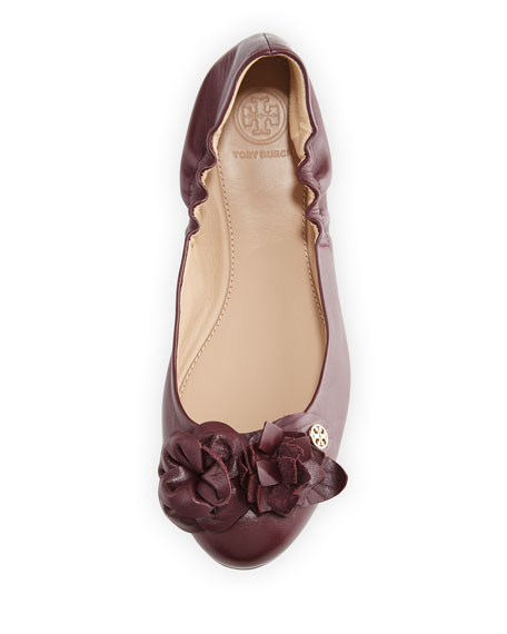 7da6f5eed0c3 Tory Burch Blossom Leather Ballerina Flat