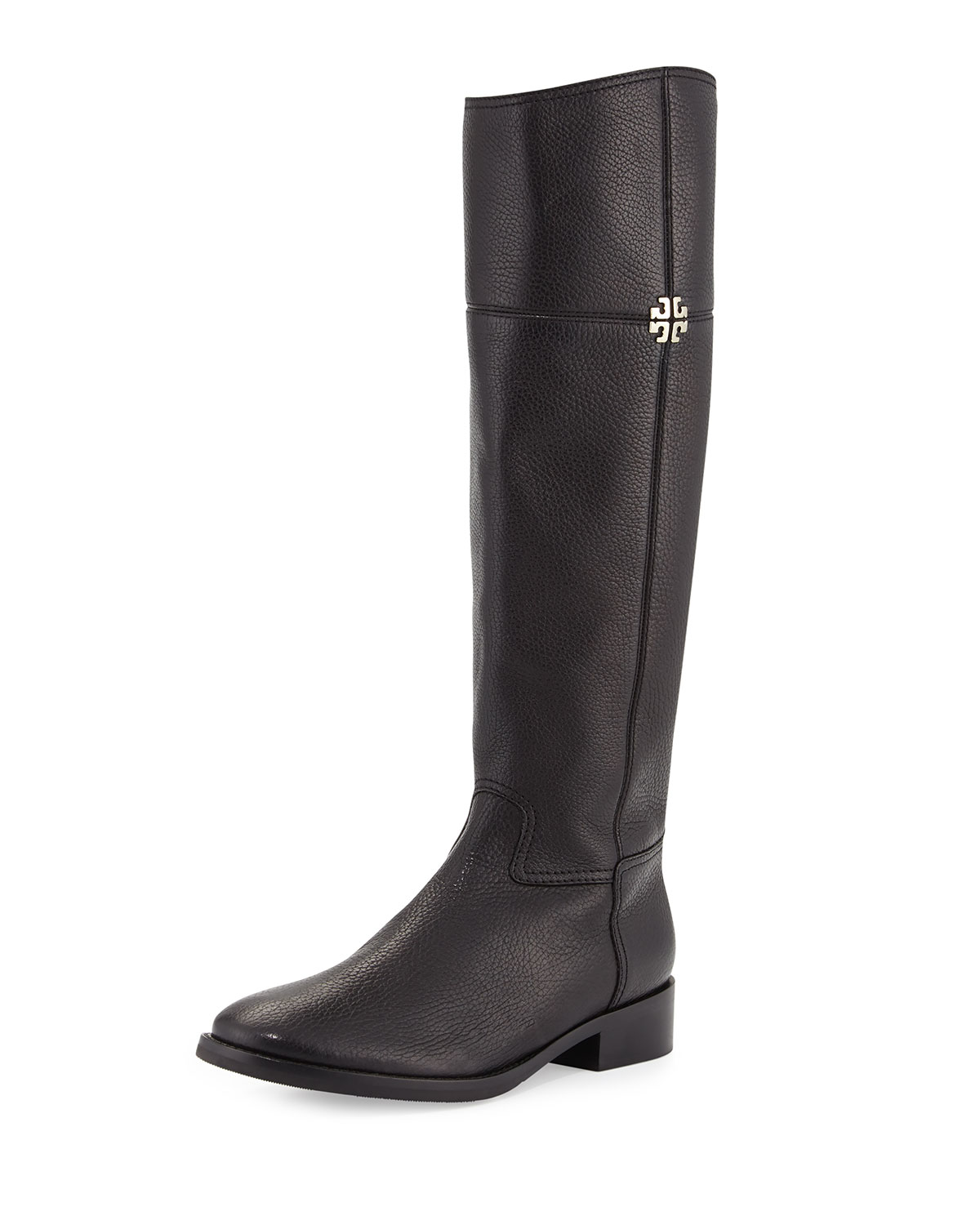 8fb4414912a9 Tory Burch Jolie Leather Riding Boot, Black | Neiman Marcus