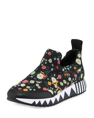 Jupiter Floral Slip-On Sneaker, Embellished Vilette