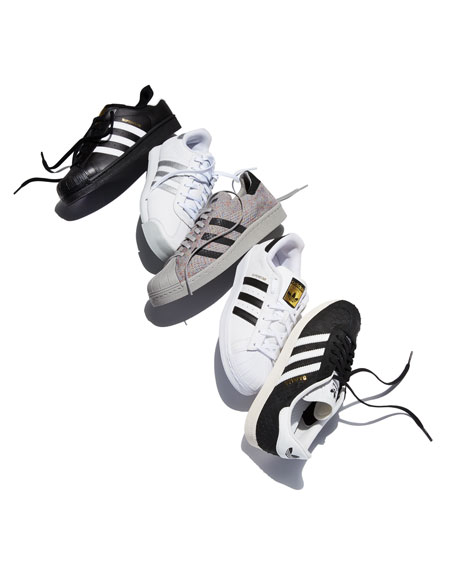 Adidas Samoa Original Leather Sneaker, White/Silver
