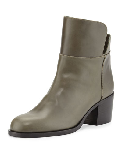 Millreef Leather Low Equestrian Boot, Green
