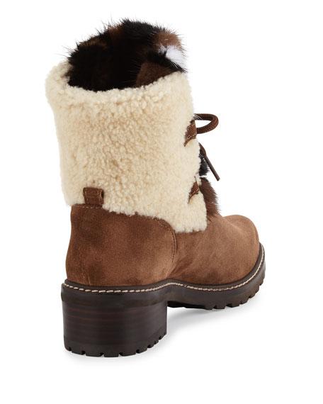 Stuart Weitzman Furnace Shearling Fur Hiker Boot