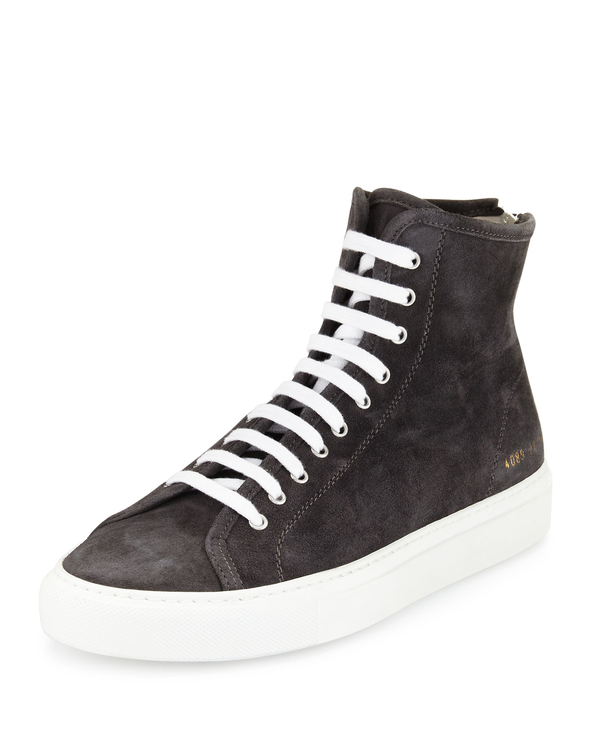 166033169c0f Common Projects Tournament Suede High-Top Sneaker