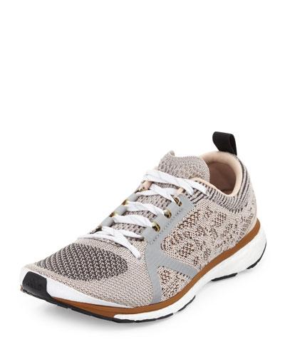 Adizero Adios Knit Sneaker, Silver/Gray