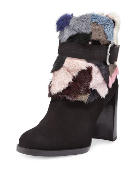 Fur Ankle Boots | Neiman Marcus