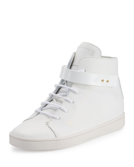 Breck Leather High-Top Sneakers, White