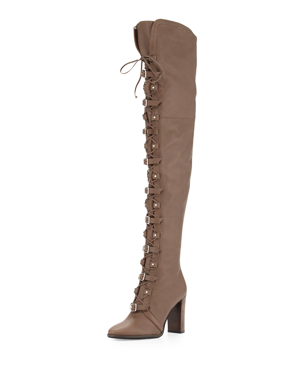 76c0998b74db Jimmy Choo Maloy Leather 95mm Over-the-Knee Boot