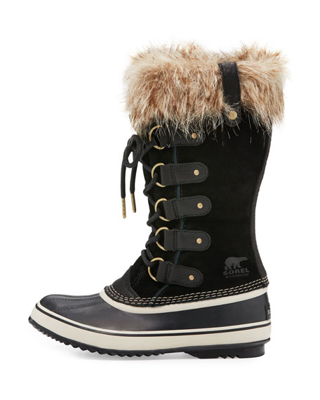 Joan of Arctic™ Fur-Trim Boot, Black