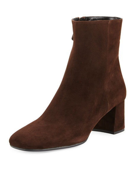 Suede Square-Toe 55mm Ankle Boot, Moor (Moro)