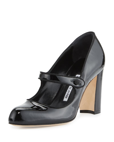 Campy 90mm Mary Jane Pump, Black