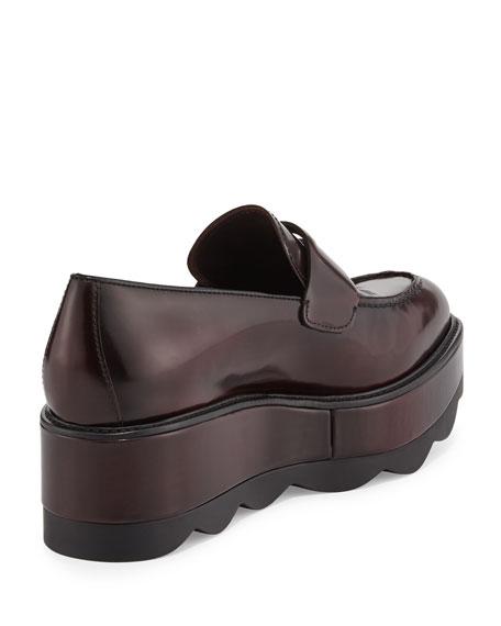 Spazzolato Creeper Loafer, Garnet (Granato)