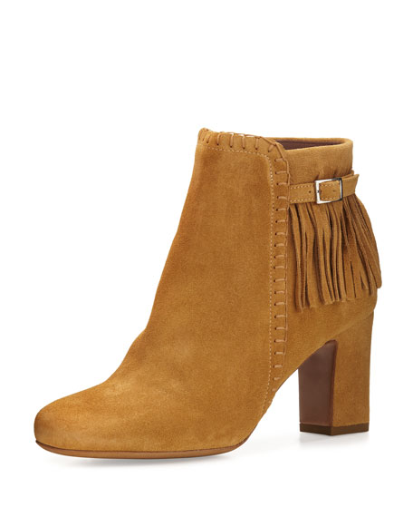 Tabitha Simmons Surrey Suede Fringe Bootie, Camel