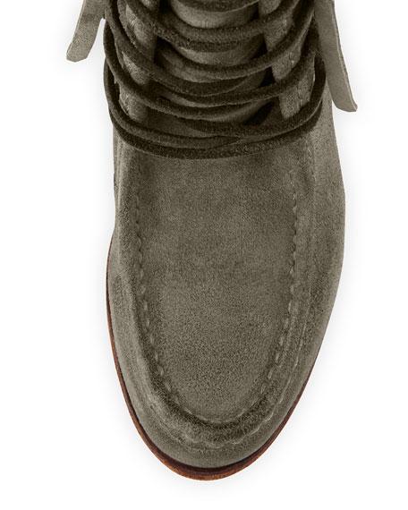 Parker Fringe Short Boot, Gray