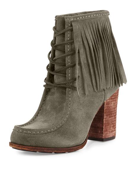 Frye Parker Fringe Short Boot, Gray