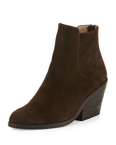 Peer Suede Ankle Boot, Chocolate