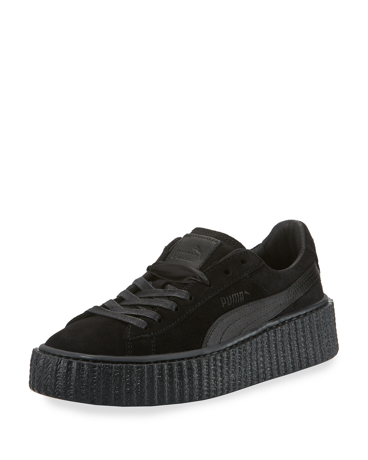 info for aa438 118fc Satin-Trim Suede Creeper, Black