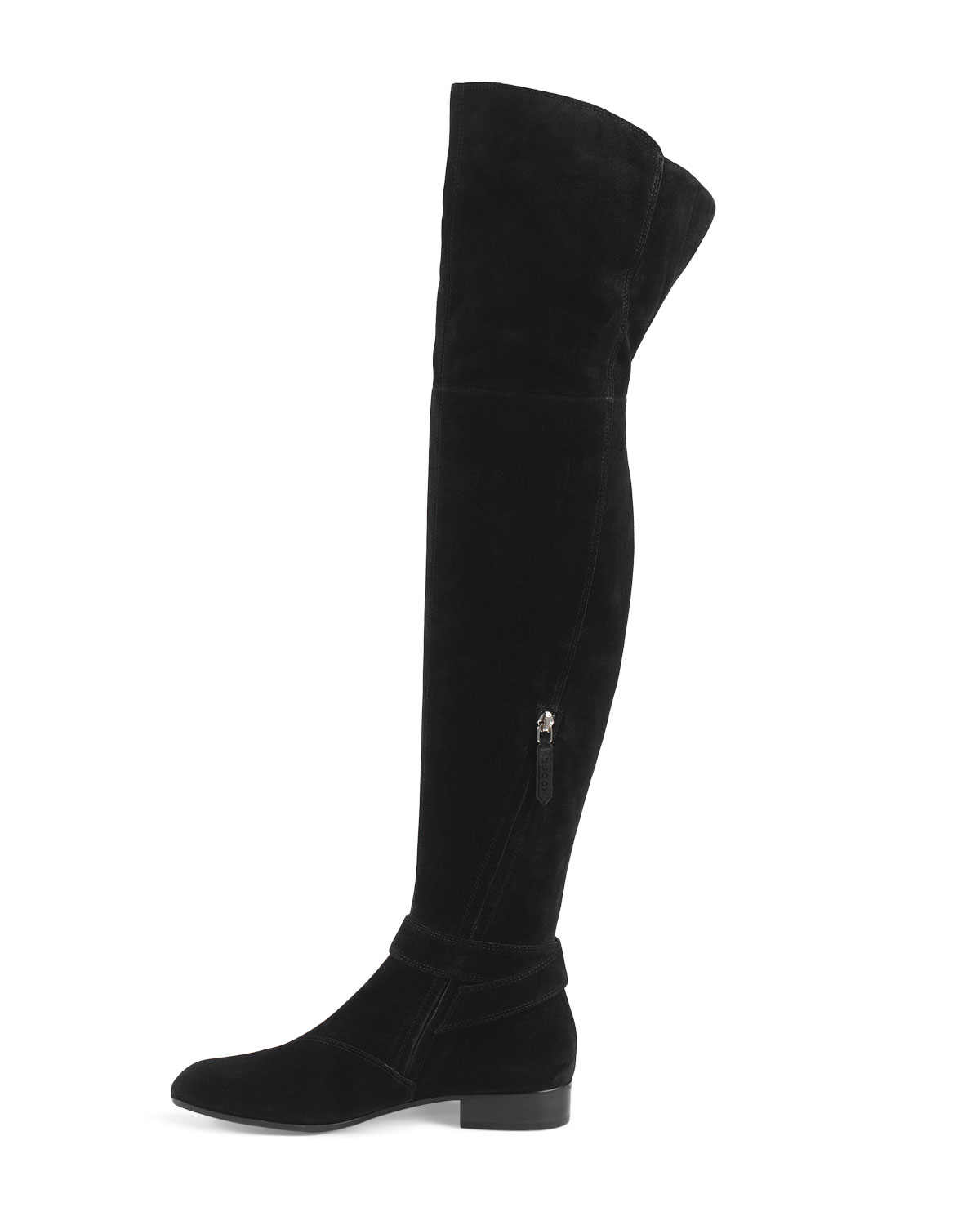 3a41ffa81 Gucci Dionysus Suede Over-The-Knee Boot, Nero | Neiman Marcus