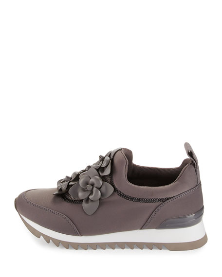 Blossom Neoprene Sneaker, Cloud Gray