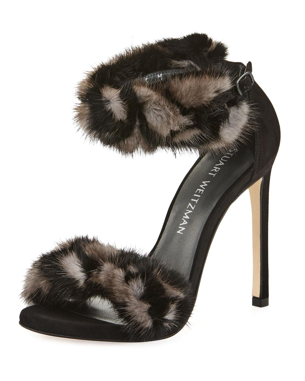 2014 new for sale cheap supply Stuart Weitzman Bunnylove Mink Fur Sandals best cheap online cheap 2015 sHZon
