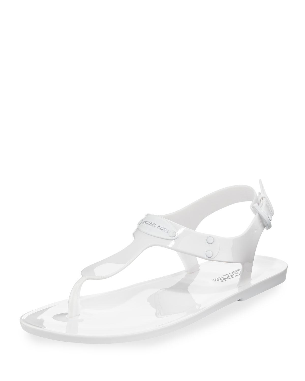 ab054ec1769a MICHAEL Michael Kors MK Plate Jelly Flat Thong Sandal